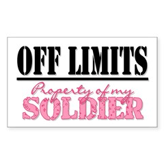 property of my soldier Rectangle Sticker (Rectangle 10 pk)