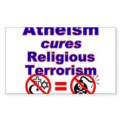 Atheism Cures Terrorism Rectangle Sticker (Rectangle 10 pk)