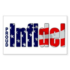 Proud Infidel Rectangle Sticker (Rectangle 10 pk)