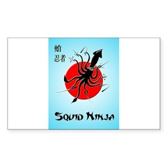 Squid Ninja Sticker (Rectangle 10 pk)