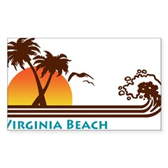 Virginia Beach Rectangle Sticker (Rectangle 10 pk)