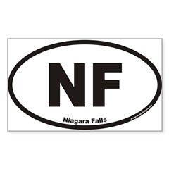 Niagara Falls NF Euro Oval Sticker (Rectangle 10 pk)