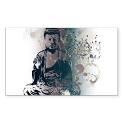 Pretty Buddha Rectangle Sticker (Rectangle 10 pk)