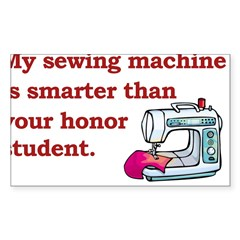 Sewing Machine/Honor Student Rectangle Sticker (Rectangle 10 pk)