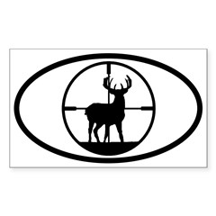 Hunting Stag Oval Sticker (Rectangle 10 pk)