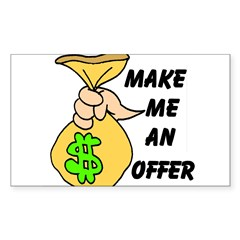 MAKE AN OFFER Rectangle Sticker (Rectangle 10 pk)