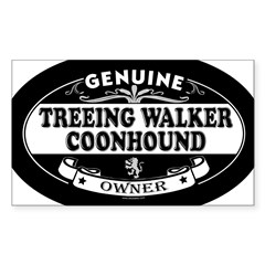 TREEING WALKER COONHOUND Oval Sticker (Rectangle 10 pk)