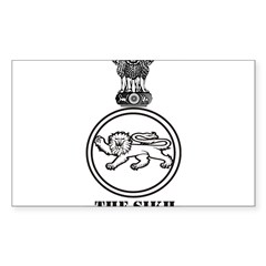 The Sikh Regiment Emblem Rectangle Sticker (Rectangle 10 pk)