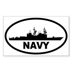 NAVY Destroyer Oval Sticker (Rectangle 10 pk)