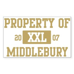 Property of Middlebury Sticker (Rectangle 10 pk)