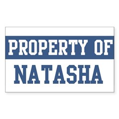 Property of NATASHA Sticker (Rectangle 10 pk)