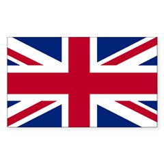 Union Jack Rectangle Sticker (Rectangle 10 pk)