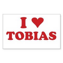 I LOVE TOBIAS Sticker (Rectangle 10 pk)