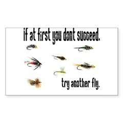 If at first you dont succeed, Sticker (Rectangular Sticker (Rectangle 10 pk)