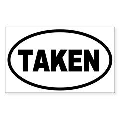Taken Oval Oval Sticker (Rectangle 10 pk)