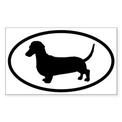Dachshund Oval Sticker (Rectangle 10 pk)