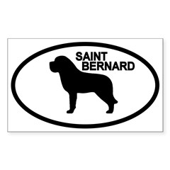 Saint Bernard Oval Sticker (Rectangle 10 pk)