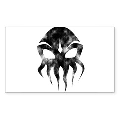 Cthulhu (distressed) Rectangle Sticker (Rectangle 10 pk)