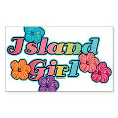 Island Girl Rectangle Sticker (Rectangle 10 pk)