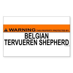 BELGIAN TERVUEREN SHEPHERD Sticker (Rectangle 10 pk)
