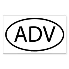 ADV Oval Sticker (Rectangle 10 pk)