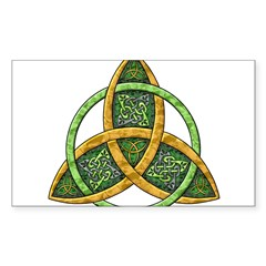 Celtic Trinity Knot Rectangle Sticker (Rectangle 10 pk)