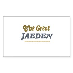 Jaeden Rectangle Sticker (Rectangle 10 pk)