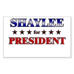 SHAYLEE for president Rectangle Sticker (Rectangle 10 pk)