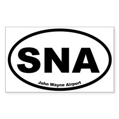 John Wayne Airport Oval Sticker (Rectangle 10 pk)