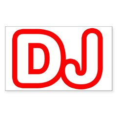 DJ Rectangle Sticker (Rectangle 10 pk)