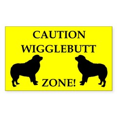 Wigglebutt Zone Sticker (Rectangle 10 pk)