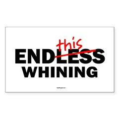EndThis Whining Oval Sticker (Rectangle 10 pk)