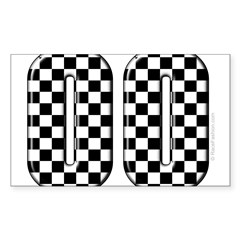 Race Car #00 Rectangle Sticker (Rectangle 10 pk)