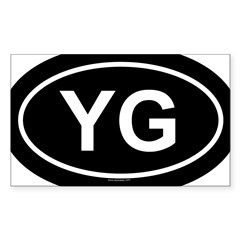 YG Oval Sticker (Rectangle 10 pk)
