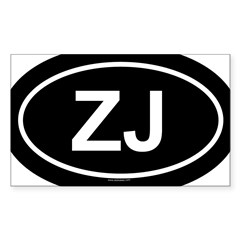 ZJ Oval Sticker (Rectangle 10 pk)
