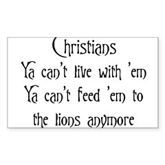 Christians Rectangle Sticker (Rectangle 10 pk)