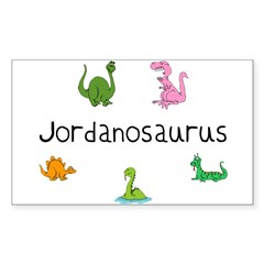 Jordanosaurus Rectangle Sticker (Rectangle 10 pk)