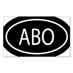 ABO Oval Sticker (Rectangle 10 pk)