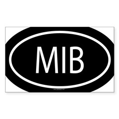 MIB Oval Sticker (Rectangle 10 pk)