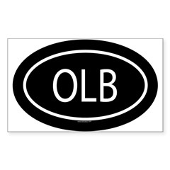 OLB Oval Sticker (Rectangle 10 pk)