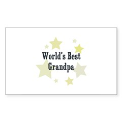 World's Best Grandpa Rectangle Sticker (Rectangle 10 pk)