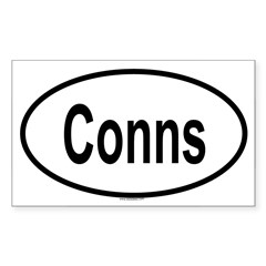 CONNS Oval Sticker (Rectangle 10 pk)