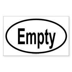 EMPTY Oval Sticker (Rectangle 10 pk)