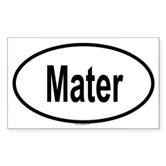 MATER Oval Sticker (Rectangle 10 pk)