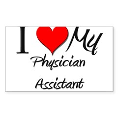 I Heart My Physician Assistant Sticker (Rectangula Sticker (Rectangle 10 pk)