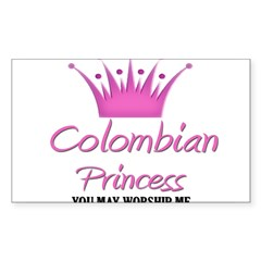 Colombian Princess Rectangle Sticker (Rectangle 10 pk)
