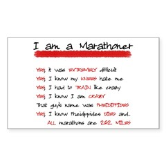 I am a Marathoner Rectangle Sticker (Rectangle 10 pk)