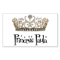 Princess Paula Rectangle Sticker (Rectangle 10 pk)