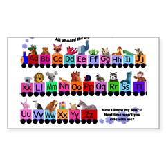 Alphabet Train Rectangle Sticker (Rectangle 10 pk)