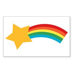 Retro Shooting Star Rectangle Sticker (Rectangle 10 pk)